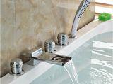 Garden Bathtub Faucet New Deck Mount Widespread Roman Tub Faucet Chrome Brass