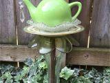 Garden Whimsies Yard Art Tea Pot totem Garden Art Vintage Glass Yard Art by Fancysgarden