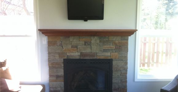 Gas Fireplace Inserts with Mantle Gas Fireplace Insert Custom Maple Mantel Fieldstone Fireplace Reface