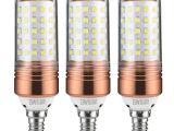 Ge Led Light Bar Yiizon 15w Led Candle Bulbs 6000k Daylight White 1200lm E12 Base