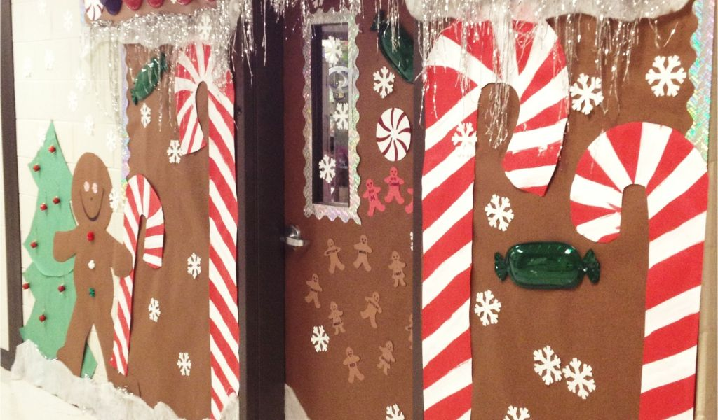 Gingerbread Theme Outdoor Decorations Christmas Holiday Door