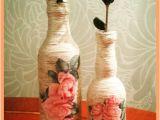 Glass Bottle Decoration Ideas Decoupage Yarn Bottle Decorations Diy Craft Ideas Tutorial Uradi