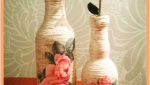 Glass Bottle Decoration Ideas Decoupage Yarn Bottle Decorations Diy Craft Ideas Tutorial Uradi