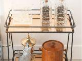 Gold Bar Cart with Wine Rack Must Shop Schatzi Pinterest Glass Bar Bar Carts and Copper Bar