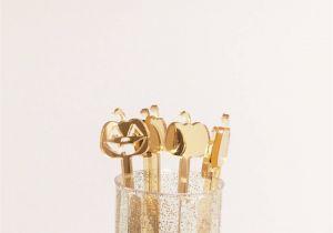 Gold Decorative Jacks Gold Fall Decor Pumpkin Drink Stirrers Jack O Lantern Stirrer