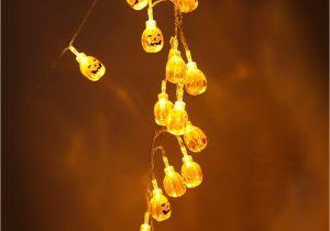 Gold Decorative Jacks Halloween 3d Jack O Lantern Pumpkin String Lights 20 Led 2m Holiday
