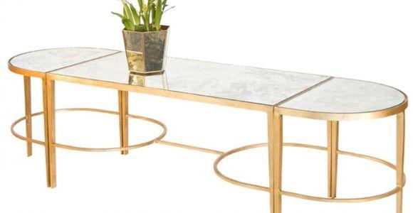 Gold Leaf Coffee Table Worlds Away Fnamcf3 3 Piece Gold Leaf Sabre Leg Coffee Table