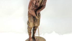 Golf Statues Home Decorating Golf Statue 11 Tall Austin Alexsander Danel Bronze Finish Chalkware