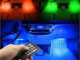 Green Interior Led Lights for Cars 2018 Rgb Light 48led Usb Music sound Active Car Interior Led Strips