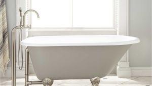 """Grey Clawfoot Tub 54"""" Miya Cast Iron Clawfoot Tub Ball & Claw Feet"""