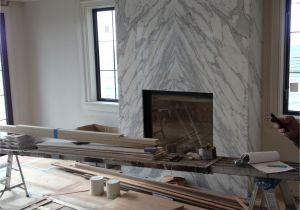Grey Quartz Fireplace Surround Contemporary Slab Stone Fireplace Calacutta Carrara Marble Book