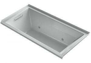 Grey Whirlpool Bathtub Kohler Underscore 5 Ft Acrylic Rectangular Drop In