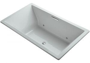 Grey Whirlpool Bathtub Kohler Underscore 6 Ft Rectangular Drop In or Undermount