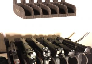 Gun Display Rack 6 Gun Safe Pistol Rack Holder Storage organizer Handgun Display
