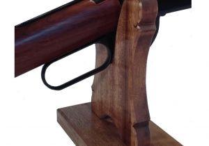 Gun Display Rack Oak Gun Rack Stand Presentation Table top Display Rifle Shotgun