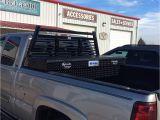 Gun Rack for Truck tool Box Installed Ranch Hand Louverd Headache Rack and Better Built Black