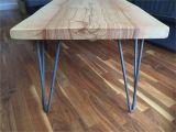 Hairpin Leg Coffee Table Real Wood Coffee Table Best solid ash Slab Hairpin Leg Coffee Table
