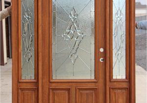Half Light Door Front Entry Doors with Side Lights Showroom Display Door Finished