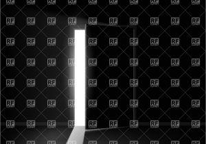 Half Light Door Half Open Door with Light Stripe Vector Image Vector Artwork Of