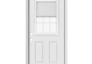 Half Light Door Reliabilt 2 Panel Insulating Core Blinds and Grilles Between the