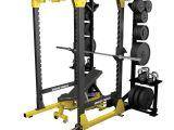 Half Squat Rack with Pull Up Bar Hammer Strength Hd Elite Power Rack for Strength Training Life Fitness