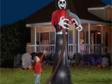 Halloween Inflatable Yard Decorations Walmart 12 Tall Grim Reaper Halloween Airblown Inflatable Walmart Com