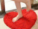 Heart Shaped Bathtub 5060cm Cute Love Heart Shaped Non Slip soft Microfiber Chenille