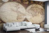 Hemisphere Furniture Store Vintage Map Wall Mural Self Adhesive Photo Mural Artbedding