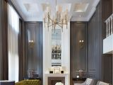 High Ceiling Living Room Designs Gorgeous Dark Walls and High Ceilings with Minimal but Traditional