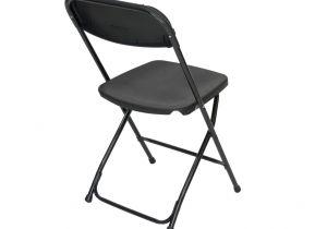High Seat Heavy Duty Beach Chairs Black Plastic Folding Chair Premium Rental Style