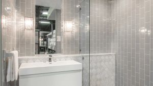 Highland Park Premier Decor Tile Simple yet Elegant Bathroom Wall Tile Imperial Ice Grey Gloss