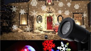 Holiday Spot Lights 2018 Led Moving Snowflake Spotlight Lamp Rgb Snow Laser Projector