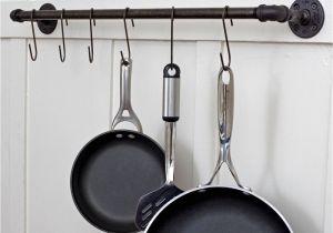 Home Depot Ceiling Pot Rack Plumbing Pipe Storage Bar towel Bar Pot Rack Coat Rack Reclaimed