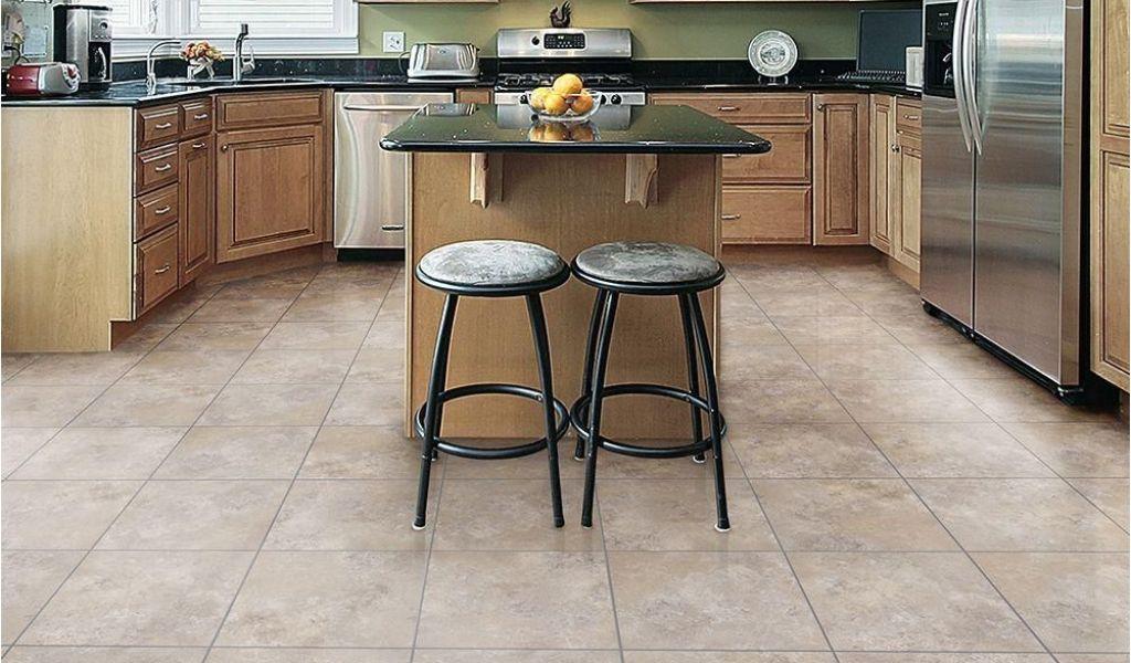 Home Depot Kitchen Flooring Trafficmaster Ceramica Cool Grey 12 In X ...