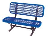 Home Depot toy tool Bench Ultra Play 3 Ft Diamond Blue Commercial Park Preschool Bench