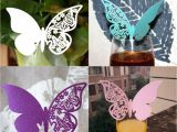 Homemade butterfly Decorations for Party 50pcs Pack butterfly Place Escort Wine Glass Paper Card for Wedding