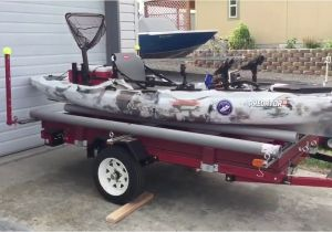 Homemade Double Kayak Roof Rack Versatile Harbor Freight Double Kayak Trailer Diy Build Youtube