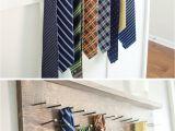 Homemade Tie Rack Diy Tie Rack Tutorial Tie Rack