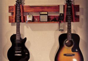Homemade Wooden Guitar Rack Acoustic Guitar Hanger African Mahogany
