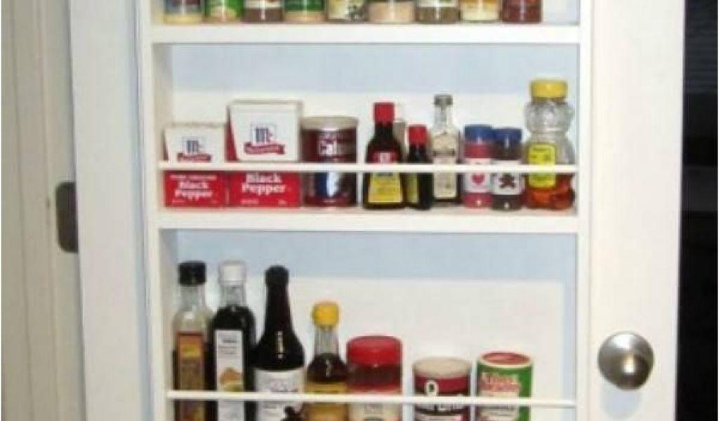 How To Build A Spice Rack On A Door Cabinet Door Spice Rack Plans