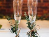 How to Decorate Champagne Glasses 30 Greenery Wedding theme Ideas Pinterest theme Ideas Greenery