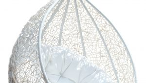 How to Make A Teardrop Swing Chair Hanging Chair Rattan Egg White Half Teardrop Wicker Hanging Chair