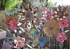 How to Make Flower Plate Garden Art Metal Art Garden Flowers Metals Pinterest Metals Flower and