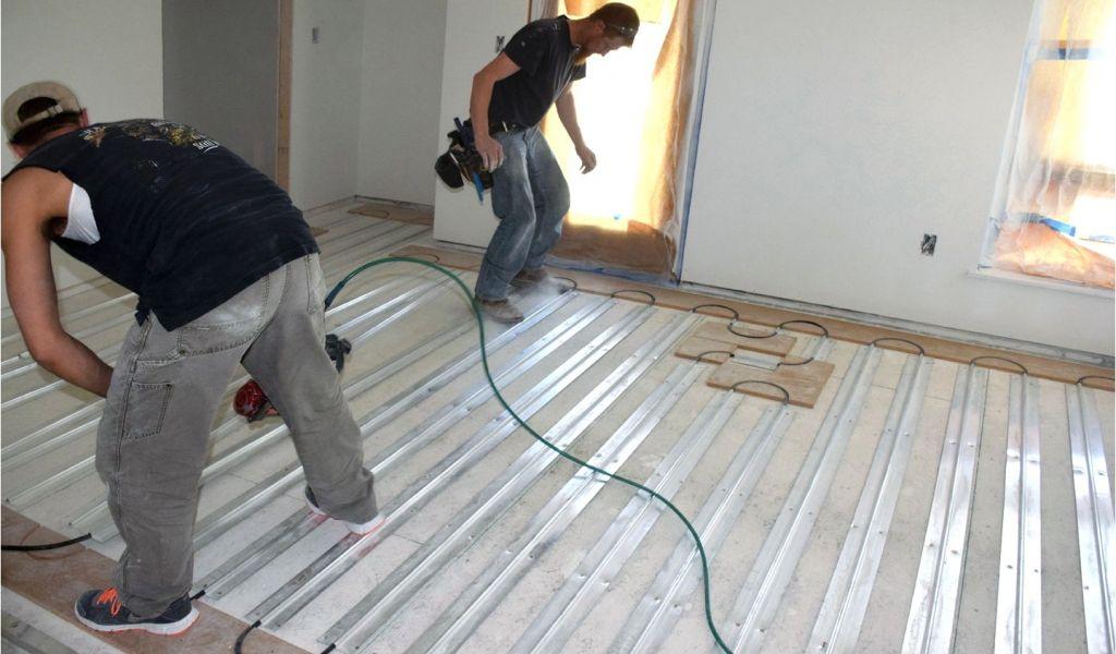 Hydronic Radiant Heat Under Wood Floors Themofin U Extruded Aluminum