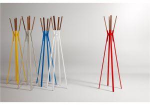 Ikea Standing Coat Rack Splash Coat Rack Powder Coated Steel and solid Walnut Stand at the