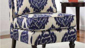 Indigo Blue Accent Chair Cassidy Indigo Ikat Armless Chair Overstock Shopping