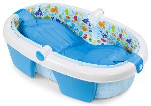Inflatable Baby Bathtub Walmart Shop Summer Infant Neutral Fold Away Baby Bath Free
