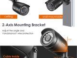 Interior Exterior Security Cameras Zosi 8ch Cctv System 4pcs 1280tvl Outdoor Weatherproof Security