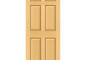 Interior Slab Doors Sale Shop Reliabilt Authentic Wood Unfinished 6 Panel Wood Pine Slab Door