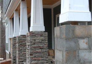 Interior Stone Column Wraps Tapered Columns Centurion Stone Ledge Pennsylvania House